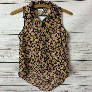 NWOT Disney D-Signed Floral Button Down Tunic